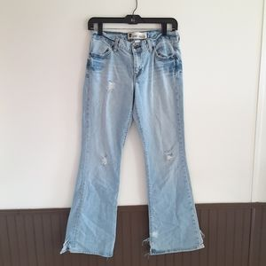Gap distressed flare jeans